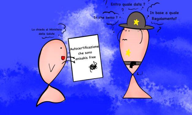 """L'autocertificazione """"anisakis free"""" : istruzioni per l'uso"""